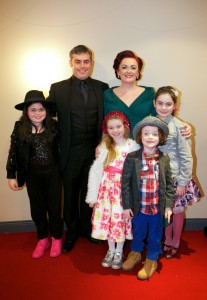 "No Reproduction Fee. ""Pictured are, Film Director Padraig Trehy with his family; Susan Burke-Trehy, Matilda, Phoebe, Caleb and Isabelle, all from Douglas Cork at the gala screening of Shem the Penman Sings Again, which took place in The Everyman on Friday, 13th November as part of Cork Film Festival. Directed by Padraig Trehy and produced by Rossa Mullin of Pooleen Productions, Shem the Penman Sings Again documents the much fabled friendship of James Joyce and John McCormack."" Photo:Donagh Glavin"