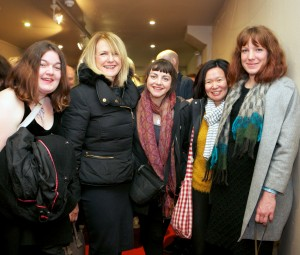 "No Reproduction Fee. ""Pictured are; Wilhelmina van der Bent, Maura Connolly, Emma Craig, Jennifer Ng and Laura McAuliffe all of the Crawford College of Art & Design at the gala screening of Shem the Penman Sings Again, which took place in The Everyman on Friday, 13th November as part of Cork Film Festival. Directed by Padraig Trehy and produced by Rossa Mullin of Pooleen Productions, Shem the Penman Sings Again documents the much fabled friendship of James Joyce and John McCormack."" Photo:Donagh Glavin"